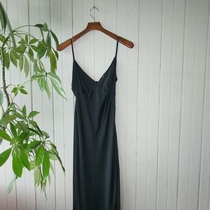 Victoria's Secret VS long maxi silk black slip M